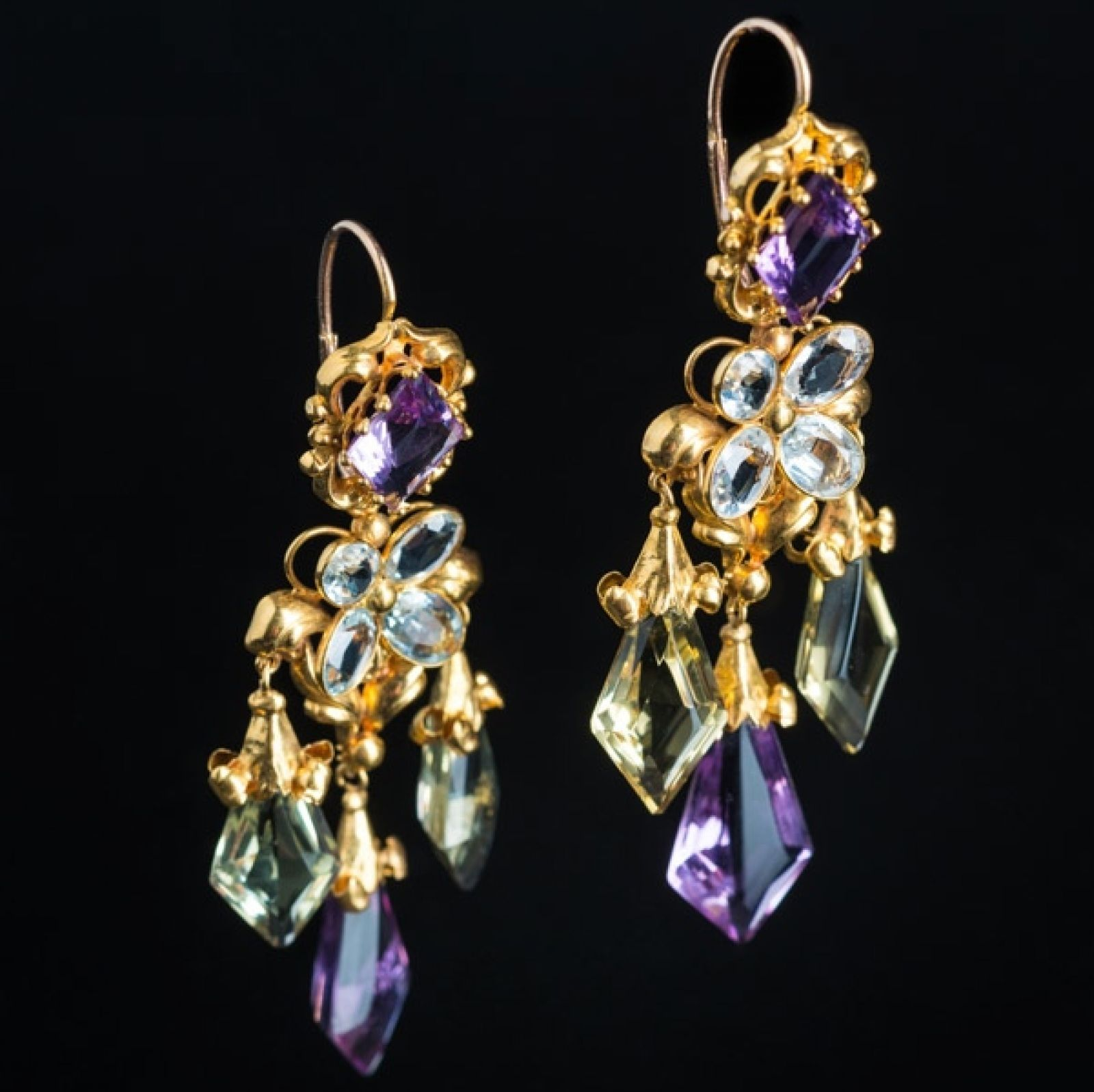 Antique Girandole Earrings